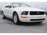 2005 Performance White Ford Mustang V6 Deluxe Convertible #81634742