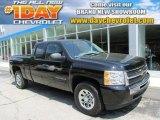 2011 Black Chevrolet Silverado 1500 LS Extended Cab 4x4 #81634142