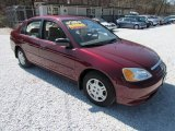 2002 Radiant Ruby Red Pearl Honda Civic LX Sedan #81685467
