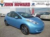 2013 Blue Ocean Nissan LEAF SL #81685311