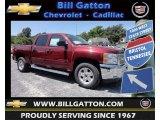 2013 Deep Ruby Metallic Chevrolet Silverado 1500 LT Crew Cab 4x4 #81685433