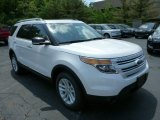 2013 White Platinum Tri-Coat Ford Explorer XLT 4WD #81684944