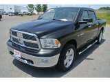 2009 Brilliant Black Crystal Pearl Dodge Ram 1500 Big Horn Edition Crew Cab 4x4 #81685296