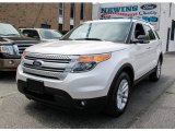 2013 Oxford White Ford Explorer XLT 4WD #81685408