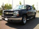 2005 Dark Blue Metallic Chevrolet Silverado 1500 LS Crew Cab 4x4 #81685392