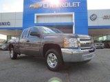 2013 Mocha Steel Metallic Chevrolet Silverado 1500 LT Extended Cab #81685154