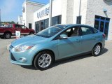 2012 Frosted Glass Metallic Ford Focus SEL Sedan #81685034