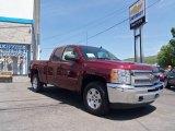 2013 Deep Ruby Metallic Chevrolet Silverado 1500 LT Extended Cab 4x4 #81770039