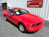 2005 Torch Red Ford Mustang V6 Deluxe Coupe #81770512