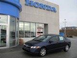 2007 Royal Blue Pearl Honda Civic LX Sedan #8155372
