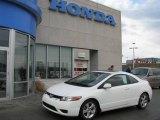 2007 Taffeta White Honda Civic EX Coupe #8155382