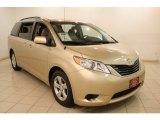 2011 Sandy Beach Metallic Toyota Sienna LE #81770357