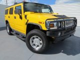 2003 Yellow Hummer H2 SUV #81810691