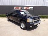 2008 Dark Blue Metallic Chevrolet Silverado 1500 LT Crew Cab 4x4 #81810819