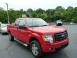 2010 Vermillion Red Ford F150 STX SuperCab 4x4 #81811128