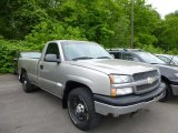 2003 Light Pewter Metallic Chevrolet Silverado 1500 LS Regular Cab 4x4 #81810643