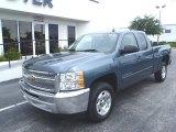 2013 Blue Granite Metallic Chevrolet Silverado 1500 LT Extended Cab #81871041