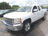 2013 Summit White Chevrolet Silverado 1500 LT Extended Cab #81871038