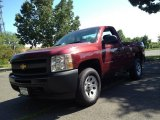 2013 Deep Ruby Metallic Chevrolet Silverado 1500 Work Truck Regular Cab 4x4 #81870374