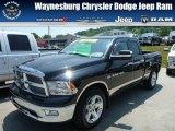2011 Brilliant Black Crystal Pearl Dodge Ram 1500 Big Horn Quad Cab 4x4 #81870506
