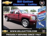 2013 Deep Ruby Metallic Chevrolet Silverado 1500 LT Crew Cab 4x4 #81870893