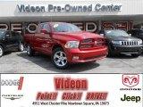 2010 Inferno Red Crystal Pearl Dodge Ram 1500 Big Horn Quad Cab 4x4 #81870993