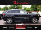 2014 Brilliant Black Crystal Pearl Jeep Grand Cherokee Overland 4x4 #81870222