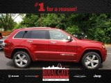 2014 Deep Cherry Red Crystal Pearl Jeep Grand Cherokee Overland 4x4 #81870221