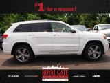 2014 Bright White Jeep Grand Cherokee Overland 4x4 #81870219