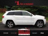 2014 Bright White Jeep Grand Cherokee Overland 4x4 #81870217
