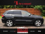 2014 Brilliant Black Crystal Pearl Jeep Grand Cherokee Overland 4x4 #81870212