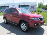 2011 Spicy Red Kia Sorento LX #81870719