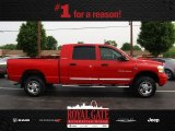 2006 Flame Red Dodge Ram 1500 Laramie Mega Cab 4x4 #81932513