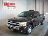 2009 Dark Cherry Red Metallic Chevrolet Silverado 1500 LT Extended Cab 4x4 #81933231