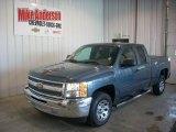 2012 Blue Granite Metallic Chevrolet Silverado 1500 LS Extended Cab #81933226