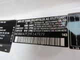 2000 SLK Color Code for Glacier White - Color Code: 143