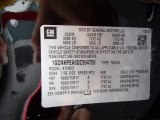 2013 Chevrolet Silverado 1500 LS Regular Cab 4x4 Info Tag