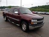 2002 Dark Carmine Red Metallic Chevrolet Silverado 1500 LS Extended Cab 4x4 #81987801