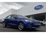 2013 Deep Impact Blue Metallic Ford Fusion Titanium #81987764