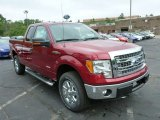 2013 Ruby Red Metallic Ford F150 XLT SuperCab 4x4 #81987727