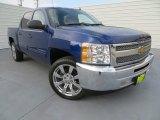 2013 Blue Topaz Metallic Chevrolet Silverado 1500 LT Crew Cab #81987842
