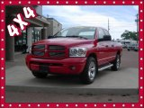 2007 Flame Red Dodge Ram 1500 Sport Quad Cab 4x4 #81987838