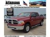 2009 Inferno Red Crystal Pearl Dodge Ram 1500 SLT Crew Cab 4x4 #82058204