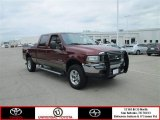 2004 Dark Toreador Red Metallic Ford F250 Super Duty FX4 Crew Cab 4x4 #82058176