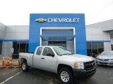 2011 Sheer Silver Metallic Chevrolet Silverado 1500 Extended Cab 4x4 #82063217