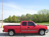 2005 Victory Red Chevrolet Silverado 1500 LS Extended Cab #8184998