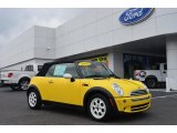 2005 Liquid Yellow Mini Cooper Convertible #82063189