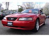 2001 Laser Red Metallic Ford Mustang V6 Coupe #8198235