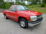 2002 Victory Red Chevrolet Silverado 1500 Work Truck Regular Cab #82063566