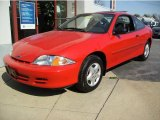 2002 Bright Red Chevrolet Cavalier Coupe #8200276